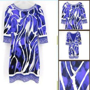 Roberto Cavalli Womens Signed Geometric Dress 3/4